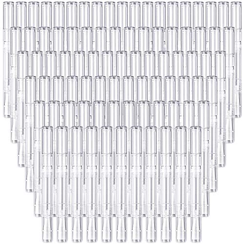 100 Pack 3 Ml Transparent Twist Pens Empty Nail Oil Pen Brush, Cuticle Oil Pen Cosmetic Lip Gloss Container Applicators