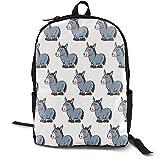 Mochila multiusos Sushi Time Nom Nom para ordenador portátil, con correas ajustables para el hombro, mochilas elegantes para la escuela universitaria, estampado de Donkey