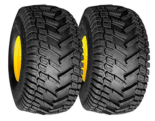 Turf Traction 20x8.00-8 Rear Tire Assembly Replacements for John Deere Riding Mowers, Set of 2