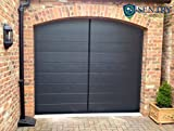 Magnetic Garage Door Screen - Single Car - 7'h x 8'w (Double Also Available) - 60g Fiberglass Mesh - Stronger 1,400gs High Energy Magnets - Weighted Bottom - Tie Backs - Wind Resistors - Black