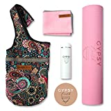 Gypsy Earth Yoga Carry Bag with Yoga mat (Pink) with Free Sustainable Water Bottle and Micro Fiber...