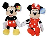 Disney Mickey and Minnie Mouse 9' Bean Plush - 2 Pack