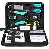 FIXKIT Kit de Herramientas de Reparación de Red Comprobador de Cable de Red para Profesionales de Mantenimiento de Ordenadores y Computadoras (12 EN 1)
