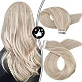Tape in Hair Extensions, Moresoo Remy Human Hair Extensions Tape in...