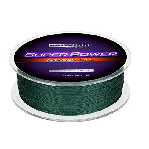 KastKing Superpower Braided Fishing Line,Moss Green,15...