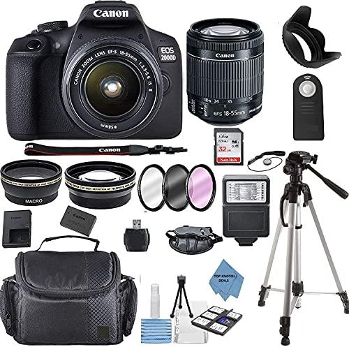 Canon EOS 2000D (Rebel T7) DSLR Camera w/Canon EF-S 18-55mm...
