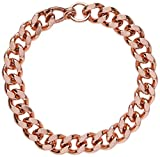Apex Copper Bracelet Wide Link Size 9', Burnished Copper, Folk Remedy Used for Easing Joint Pain & Stiffness Due to Rheumatism and Arthritis, One Size Fits All