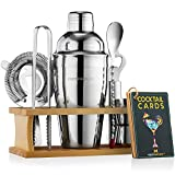 Mixology Bartender Kit with Stand   Bar Set Cocktail Shaker Set for Drink Mixing - Bar Tools:...