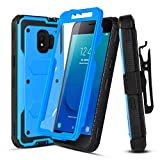 Case for Samsung Galaxy J2,Galaxy J2 Core Case/Galaxy J2 Dash/J2 Pure/J260/J2 Shine,[Buit-in Screen Protector][Shockproof],w HD Screen Protector,Hybrid Heavy Duty Case with Swivel Belt Clip-Blue