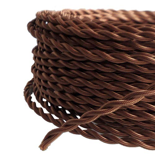 アンティーク 照明 布 配線 コード 茶色
