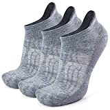 Browning Novelty Wool Workout Gym Socks, Busy Socks Home Slipper Gym Workout Lightweight Cushion Athletic Wool Socks for Men Women, Light Grey, Large, 3 Pairs