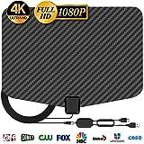 [Latest 2020] HDTV Digital Antenna 4K 1080p - 150 Mile Range, UHF & VHF Reception, ICPCB Chip, Signal Booster Amplifier, Professional Carbon Fiber Indoor TV Antenna