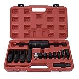 YANGH Juego de herramientas extractoras, herramientas de inyección, inyectores diésel, inyectores de inyección, extractor, herramienta de extracción de martillo deslizante (rojo)