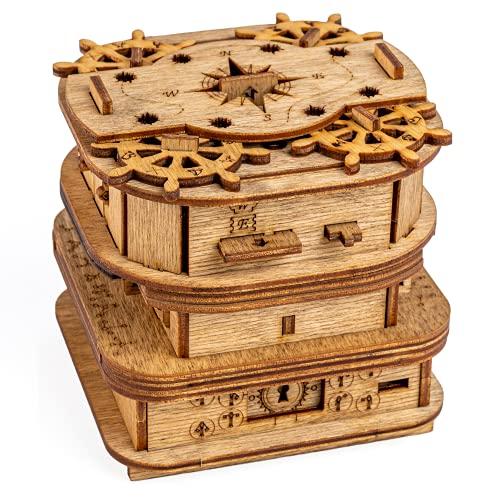 iDventure Cluebox - Davy Jones Locker - Escape Room Spiel - kniffeliges 3D Holzpuzzel Rätsel -...