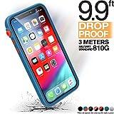 Catalyst Cover iPhone Xs, Cover iPhone X - Design sottile a prova d'urto e di caduta, per Apple iPhone Xs case/iPhone X case - Blu Arancione