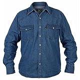 Duke Western - Chemise en jean grande taille - Homme (4XL) (Bleu)