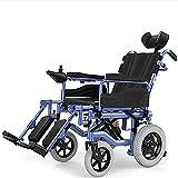 COUYY Silla de Ruedas eléctrica, la batería de Iones de Litio Plegable Completamente automático Adecuado para Las familias, los Ancianos y Las Personas con discapacidad