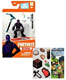 Battle Royale Collection 2' Skull Trooper Purple Glow Figure with one Sheet of 7 Minecraft Stickers Bundle (2 Items)