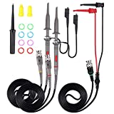 Nynelly P6000 Oscilloscope Probe with BNC to Minigrabber Test Lead Kit with Accessories Kit 100MHz Oscilloscope Clip Probes