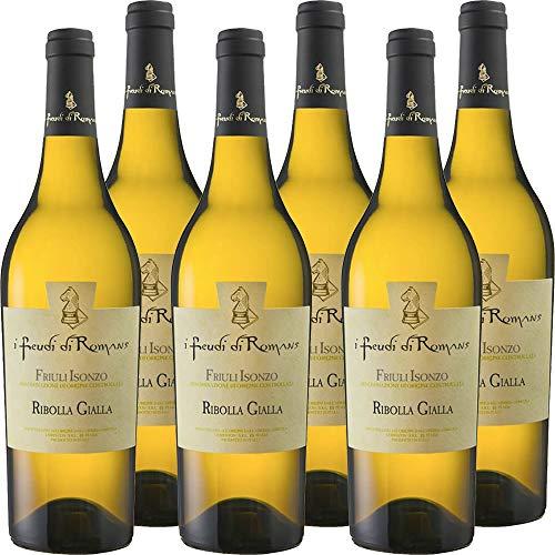 Ribolla Gialla IGT | Friuli Isonzo | I Feudi di Romans | Vino Bianco Tipico del Friuli | 6 Bottiglie 75 Cl | Idea Regalo