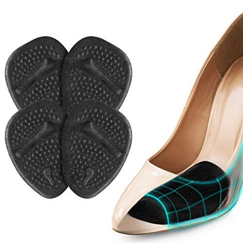 Semelles Chaussures Trop Grandes, Demi Semelle Silicone Avant Pied pour un Soulagement Rapide De La Douleur, 4 PCS Demi Semelles Talon Haut pour Femme