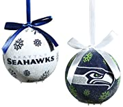 """The Size is: 10.4""""x9.59""""x3.5"""" Set of 6 Seattle Seahawks Light-up LED; batteries included"""