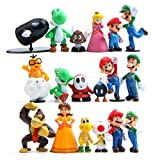 EASTVAPS 18pcs Super Mario Princesse Goomba Bowser Figurine Décoration De...