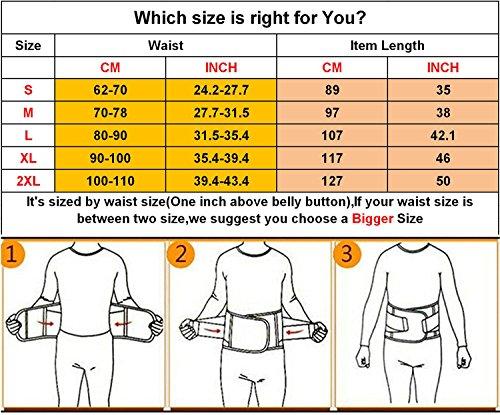 VENUZOR Waist Trainer Belt for Women - Waist Cincher Trimmer - Slimming Body Shaper Belt - Sport Girdle Belt (UP Graded)(Yellow,X-Large 7