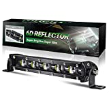 BraveWAY Barre LED 4x4 Fine 20cm 6D Réflecteur Slim Rampe Led...