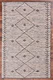 URBAN86 Oliver Leather Rug Tribal Pattern Brown Area Rug 3x5 FT