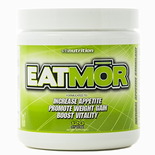 Eatmor Appetite Stimulant   Weight Gain Pills for Men and Women   Natural Hunger Boosting Orxegenic Supplement   VH Nutrition   120 Capsules   30 Day Supply