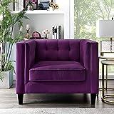 Lotte Purple Velvet Club Chair