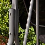 Kingfisher 2-Sitzer Hollywoodschaukel mit Dach (Einheitsgröße) (Schwarz) - 4