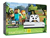 Xbox One S 500GB Konsole (weiß) inklusive Xbox Wireless Controller Minecraft Xbox One Edition – Favoriten-Paket (DLC) & Minecraft Builder-Paket (DLC) Streamen und Anschauen von Videos in atemberaubender 4K-Ultra HD Qualität dank 4K-Blu-ray Laufwerk /...