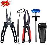 ZHENDUO OUTDOOR Fishing Pliers Set- Fishing Pliers with Sheath and Lanyards for Braid Line Cutter,...