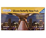 Adhesive Anti-Slip Silicone Butterfly Nose Pads for Glasses, Sunglasses, and Eye Wear - Super Sticky Backing (1.3mm Clear - 10 Pair)