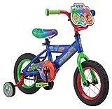 PJ Masks Kids Bike, Includes Training Wheels and Handlebar Plate