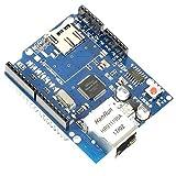 Paradisetronic.com Ethernet Shield + Emplacement de Mémoire MicroSD Slot, W5100...