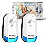 KEXMY RUNADI Ultrasonic Pest Repellent - Indoor Plug-in Pest Control for Mosquitoes, Mice, Rats, Cockroaches, Spiders, Crickets and Rodents 2 Packs