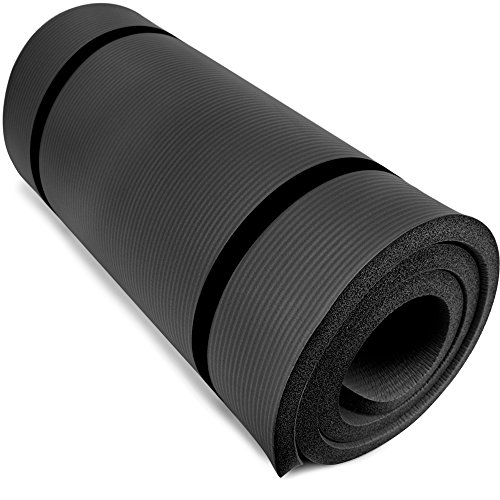 Yoga Cloud - Extra Thick 1' Exercise Mat with Shoulder Sling...