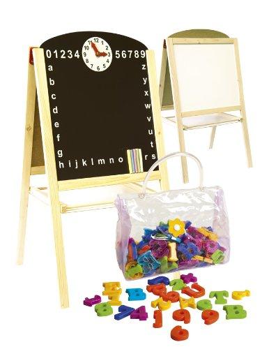 Leomark Lavagna per bambini 2 in 1 Lavagna per dipingere Lavagna magnetica in Legno compresi...