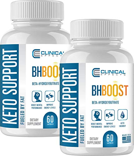 Clinical Effects: Keto Support BHBoost - Dietary Supplement for Keto Weight Support - 60 Capsules 1
