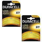 Duracell 377 SR626SW Lot de 2piles à oxyde d'argent 1.55V pour...