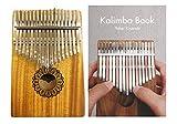 【民族楽器コイズミ】N3 カリンバ Kalimba 17keys【Cメジャーチューニング】マホガニー材(ソフトケース、クロス、指サック、鍵盤シール(赤・緑、数字)ピッチ調整用ハンマー、日本語の説明書&楽譜集、キャリングケース(着脱可能なストラップ付き))+日本語カリンバ教本「Kalimba Book」セット
