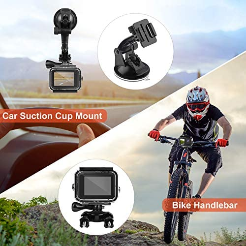 Deyard 52 in 1 Accessories Kit Compatible with GoPro Hero 9 Black, Rubber Case/ Waterproof Case + 3 Filters Chest + Head/Wrist Strap+ Bike/Backpack Clip + Floating Grip