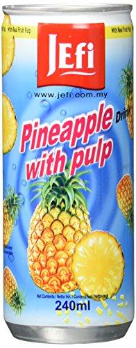 Jefi Drinks Ananas mit Fruchtfleisch Ds, 15er Pack (15 x 240ml )