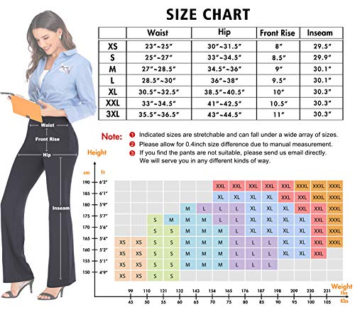 IUGA Bootcut Yoga Pants with Pockets for Women High Waist Workout Bootleg Pants Tummy Control, 4 Pockets Work Pants for Women Black 4