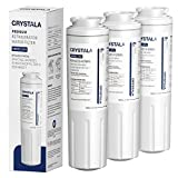 Crystala Filters UKF8001 Water Filter, Compatible with Refrigerator Water Filter Whirlpool 4396395, Filter 4, Maytag UKF8001, EDR4RXD1, UKF8001AXX, UKF8001P, Puriclean II, PH21500, (3 Pack)