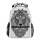 Animal Lion Mochila School Bookbag Travel Shoulder Laptop Bag para Mujer para Hombre