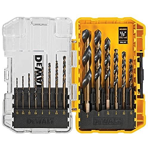 DEWALT Drill Bit Set, Black and Gold, 14-Piece (DWA1184)